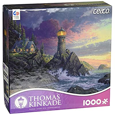 Ceaco Thomas Kinkade - Rock of Salvation Puzzle (1000 Piece): Toys & Games