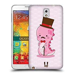 Head Case Designs Pink Professaur Gel Back Case Cover for Samsung Galaxy Note 3 N9000 N9002 N9005