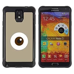 Suave TPU GEL Carcasa Funda Silicona Blando Estuche Caso de protección (para) Samsung Note 3 / CECELL Phone case / / Eye Monster Cute Minimalist Beige /