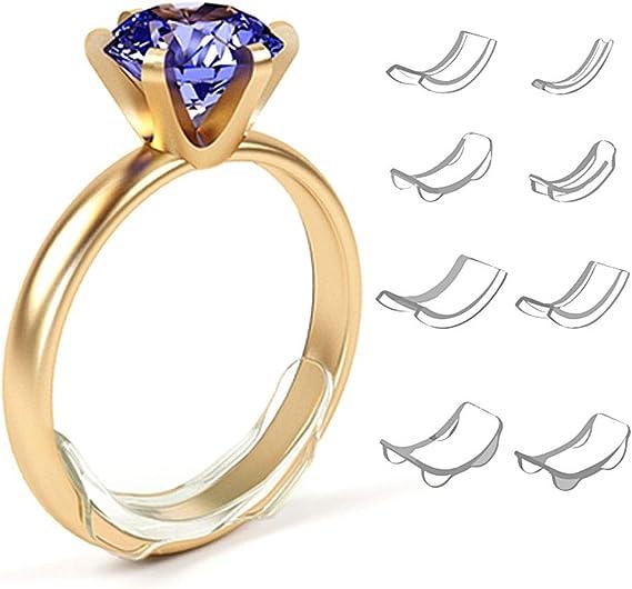 Weiche Silikon Arch Ring Sizer, 8 teile//satz Unsichtbare Ring Größe Teller