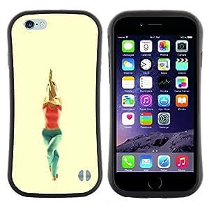 "Hypernova Slim Fit Dual Barniz Protector Caso Case Funda Para Apple (5.5 inches!!!) iPhone 6 Plus / 6S Plus ( 5.5 ) [garudasana yoga poza""]"
