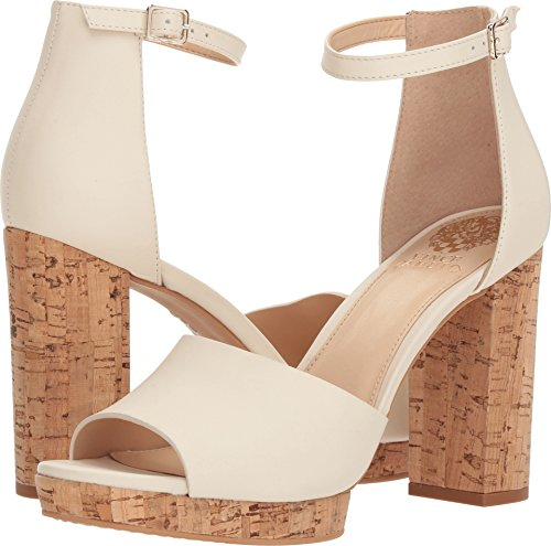 Heels Cork - Vince Camuto Women's Ciestie Heeled Sandal Vanilla 8 Medium US