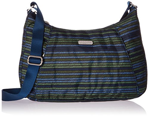 Baggallini Slim Crossbody Hobo, Moss Stripe