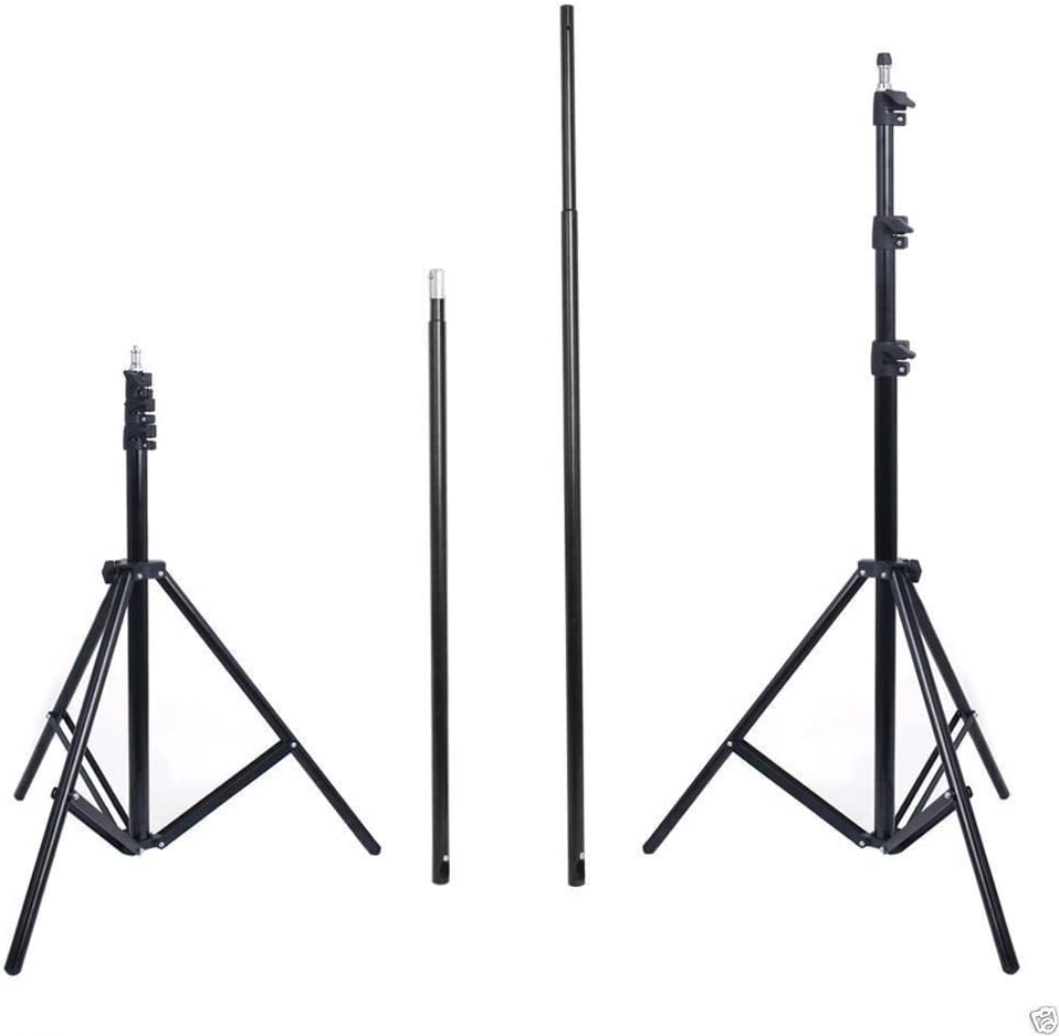 Adjustable Background Stand 3X2.8M//10X9Ft Pro Portable Heavy-Duty Backdrop Support System Kit with Carry Bag