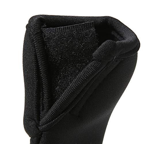 Asien 2pcs//set Stroller Handle Cover Protector Black Neoprene Stroller Grip Cover Poussette Handlebar Stroller Accessories