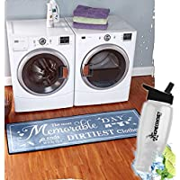 Gift Included- Decorative Carpet 60 Laundry Room Rug And Decor Runner For Hardwood Floors + FREE Bonus Water Bottle by Homecricket