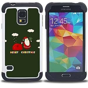 - winter Christmas merry holidays gift/ H??brido 3in1 Deluxe Impreso duro Soft Alto Impacto caja de la armadura Defender - SHIMIN CAO - For Samsung Galaxy S5 I9600 G9009 G9008V