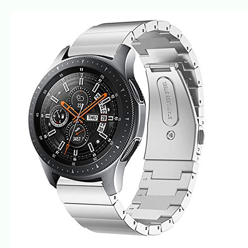 Kartice Compatible Samsung Galaxy Watch(46mm) Bands,22mm Galaxy Watch Band Solid Stainless Steel Metal Replacement Bracelet Strap fit Samsung Galaxy Watch SM-R800 Smart Watch(46mm).-Silver2