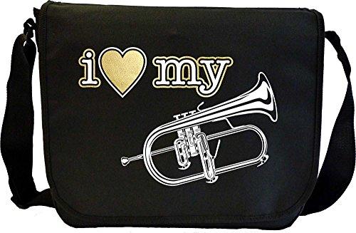 Flugelhorn Flugel I Love My - Musik Noten Tasche Sheet Music Document Bag MusicaliTee