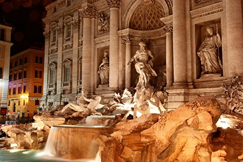 Home Comforts Canvas Print Fountain Rome Italy Trevi Fountain Fontana Di Trevi Stretched Canvas 10 x 14