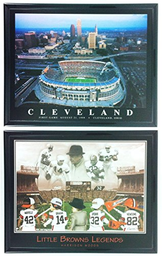 nfl-football-cleveland-browns-framed-prints-with-stadium-set-of-2-ll5012