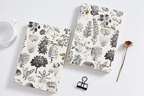 Recycled Cardboard Journal (Botanical Notebook, Recycled Paper, Flower, Plants, Pretty, Gift, Journal, Diary, Blank Pages, Beautiful, Stationary, Crafting Book)