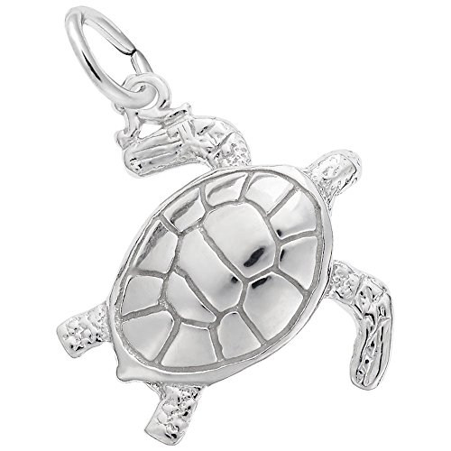 Rembrandt Charms, Sea Turtle.925 Sterling -