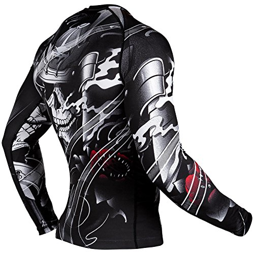Rashguard Venum Samurai Skull - Long Sleeves - Black MMA Training Fitness