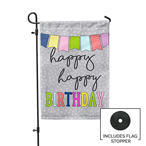 Second East Happy Happy Birthday Garden Flag Outdoor Patio S