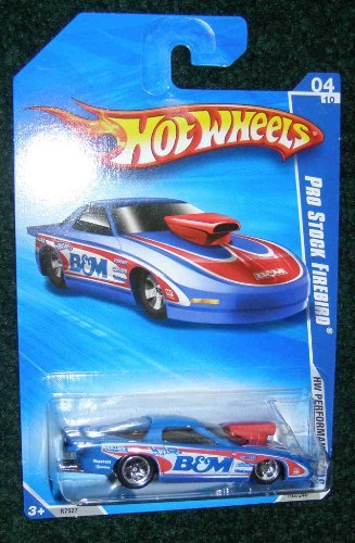 (Hot Wheels 2010 HW PERFORMANCE B&M BLUE WHITE AND RED 04 OF 10 PRO STOCK FIREBIRD)
