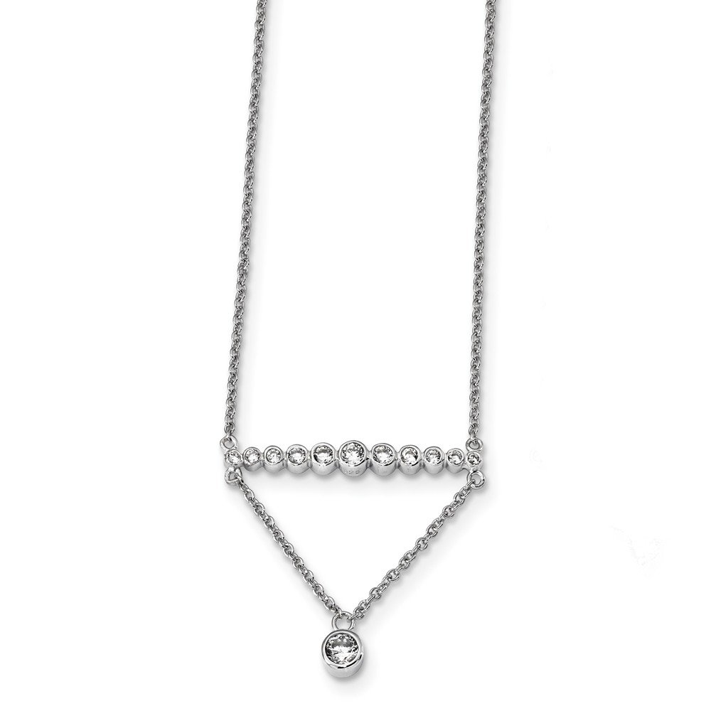 Jewels Obsession Silver Tent//Cabin Necklace Rhodium-plated 925 Silver Tent//Cabin Pendant with 18 Necklace
