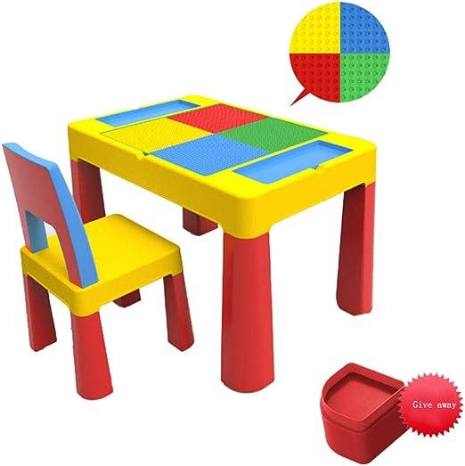 Czqlcyl Juego de Mesa y Silla para niños-Aprendizaje de niños ...