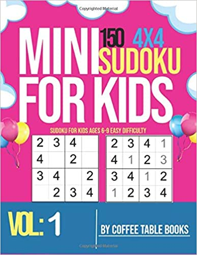 Sudoku For Kids Ages 6-9 Easy Difficulty