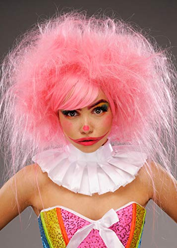 Details about  /Deluxe Clown Pink Wig