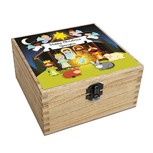 Christmas Keeepsake Box - Personalised (Nativity)