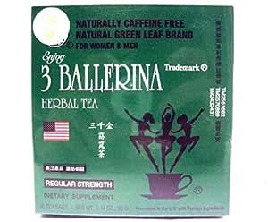 Diet Tea for Men and Women 30 Tea Bags, Three Ballerina