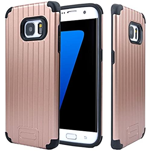 Galaxy S7 Edge Case, HESPLUS [Luggage] [Drop Protection] [Anti-Shock] Scratch Resist Dual Layer Case Cover for Sales