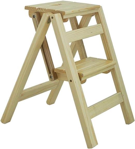 HYX Escalera Plegable - Taburete Plegable de 2 Pisos, Taburete pequeño Escalera de Madera - Taburete Plegable Escalera portátil Taburete de Paso (Color : Style A): Amazon.es: Hogar