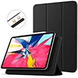 "TiMOVO Magnetic Smart Case for iPad Pro 11 Inch 2018, [Support Apple Pencil Pair & Charging] Strong Magnetic Attachment, Trifold Stand Case with Auto Sleep/Wake for iPad Pro 11"" 2018 - Black"