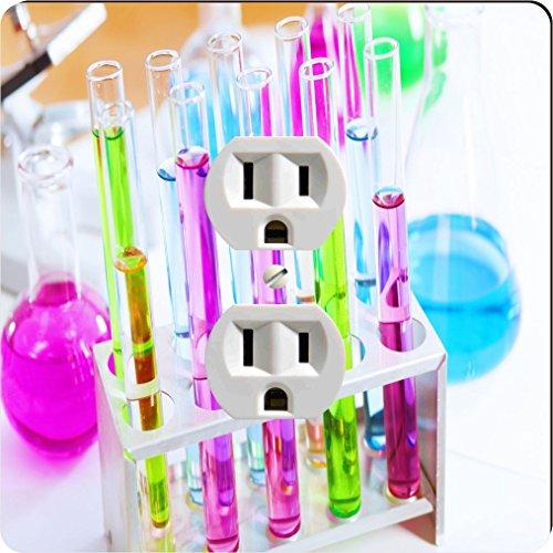 Rikki Knight 8872 Outlet Chemistry Laboratory Glassware Tropical Color Liquids Design Outlet Plate