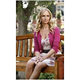 The Vampire Diaires Candice King as Caroline Forbes Sitting on Bench 8 x 10 inch Photo