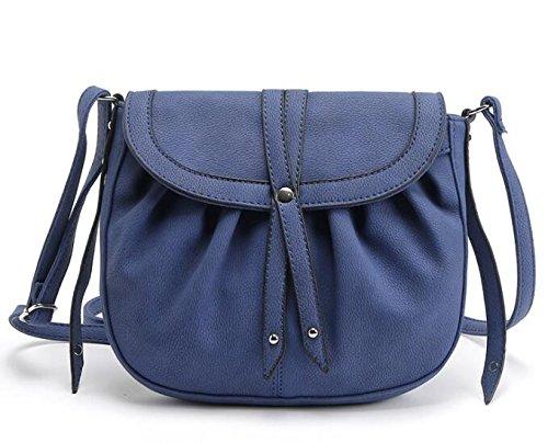 AASSDDFF Nuevo Bolso Crossbody Vintage Bolso de Mujer Bolsos Pequeño Bolso Lady'S Hombro Bolosa al por mayor,Marrón azul