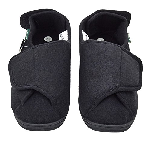 Ability Superstore Size 8 Black Dunlop George Slippers f1YywD