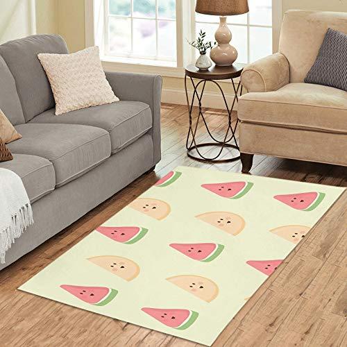 GGKDL Area Rug mat Delicious Melon Carpet Anti-Slip Carpet Fashionable hot Carpet Rectangular Anti-dust Foldable All Season Soft 100 150cm