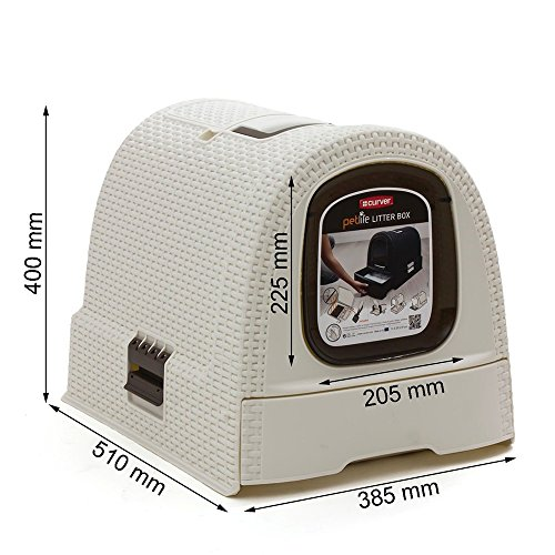 Curver Petlife Style Hooded Litter Box Scoop Filter Creme White Large Buy Online In Uae Pet Supplies Products In The Uae See Prices