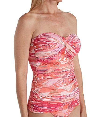 Lauren Ralph Lauren Calypso Ikat Twist Bandeau Tankini Swim Top (LR80D85) ()