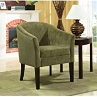 Coaster 902042 Embossed Microvelvet Accent Chair, Pistachio