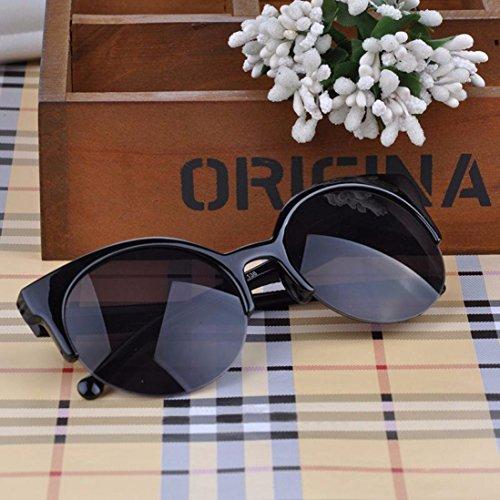 B Cat Round Sun Rim Sunglasses Soleil Été Rawdah Cat Eye Women Cerclées Eye for Glasses Semi Demi Vintage Sunglasses Lunettes Mode De Men qxwZxPBC