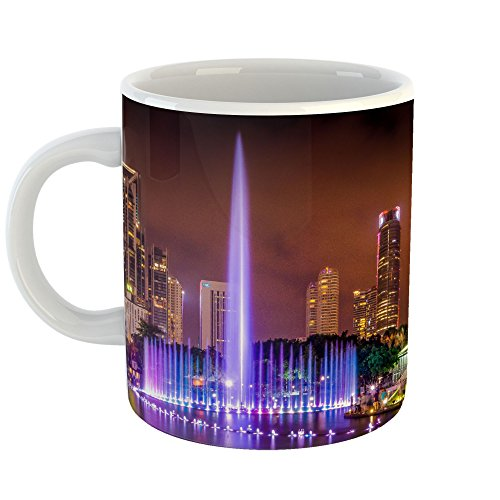 Westlake Art - Cityscape Night - 11oz Coffee Cup Mug - Modern Picture Photography Artwork Home Office Birthday Gift - 11 Ounce (C67A-B31B5) - Classic Home Chocolate Fountain