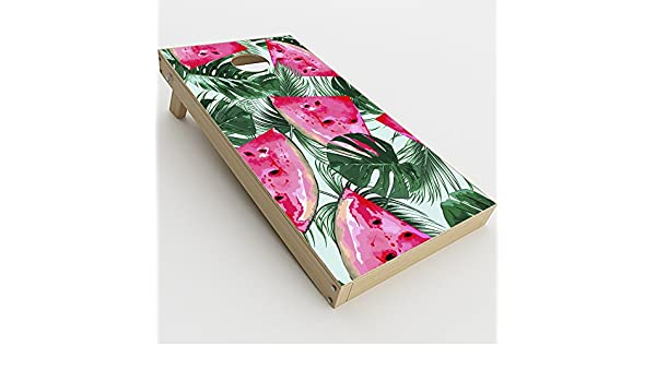 2xpcs. watermelon pattern palm Skin Decal Vinyl Wrap for Cornhole Game Board Bag Toss Skins Stickers Cover