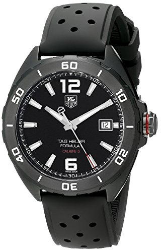 Tag Heuer Formula 1 Calibre 5 Black Titanium Automatic Watch 41mm - Titanium Sports Tag