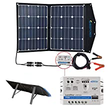 ACOPOWER 70W 50W Portable Solar Panels for RV, Portable Suitcase Solar Kit with Charge Controller
