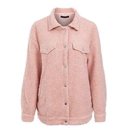 Della Giù Di Delle Cachemire Casuale Rkbaoye Collare Giacche Lana Di Tasca Giacca Falsificazione Maglione Rosa Gira Donne PYFSH