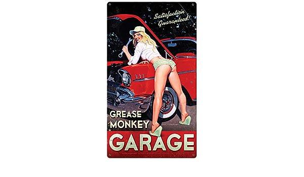 Grease Monkey Garage  Metal Sign Greg Hildebrandt