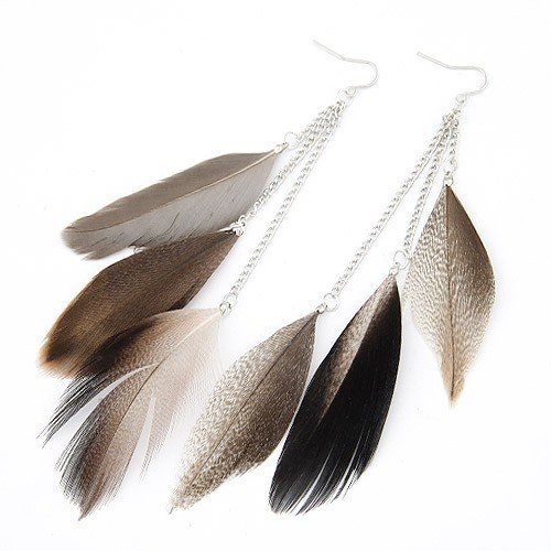 Feather Earrings For Women Fashion Long Earrings Oorbellen Brinco Jewelry Pendientes Mujer Moda Bijoux 2017