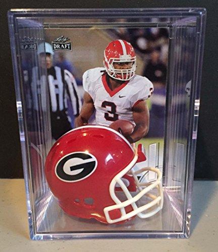 Georgia Bulldogs NCAA Helmet Shadowbox w/ Todd Gurley card