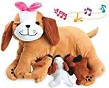 KLEEGER Plush Stuffed Animal Toy: Plush Mother Dog & 3 Talking Puppies, Nurturing & Caring Playset For Kids & Toddlers | Perfect Birthday Gift (Dog & Puppies)