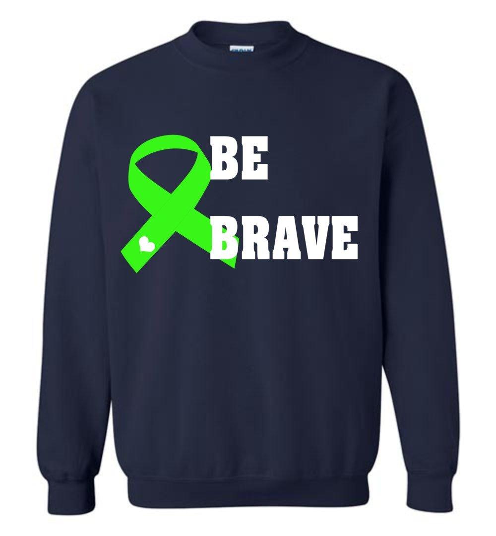 Lymphoma Cancer Awareness Be Brave Crewneck Vb Shirts