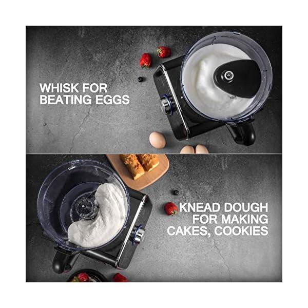 Topchef robot da cucina 1100W Robot da Cucina Compatto (con accessori inclusi: gancio per impastare, frullatore… 6