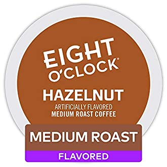 Eight O'Clock Coffee Hazelnut, Single Serve Coffee K-Cup Pod, Medium Roast, 72